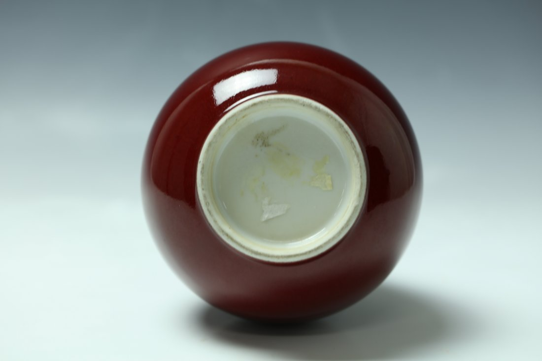 Chinese Ox-blood Porcelain Bottle Vase - 3