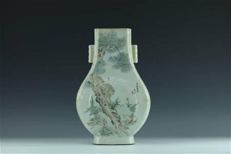 A Rare Qianjiangcai Porcelain Vase by Jiang YouQing
