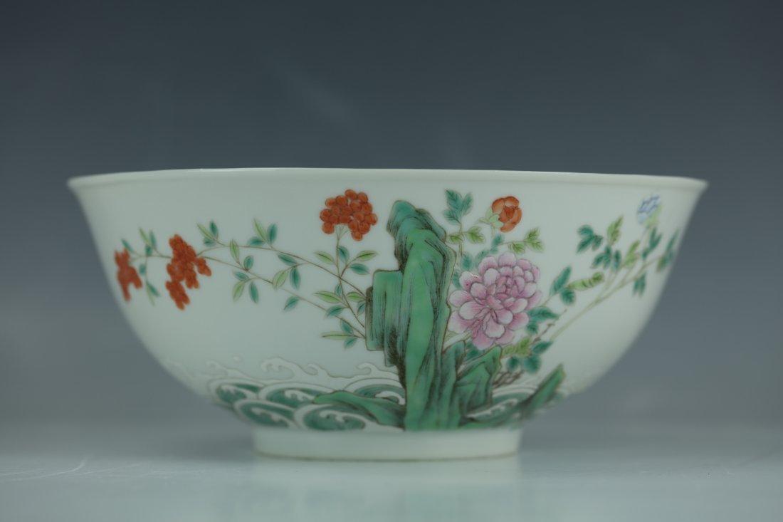 A Wang Heting Mark Famille Rose Porcelain Bowl