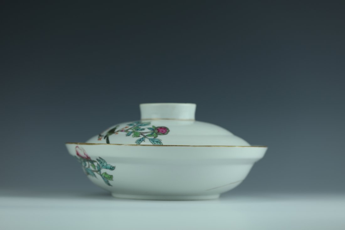 A Famille Rose Porcelain Pot With Cover - 4