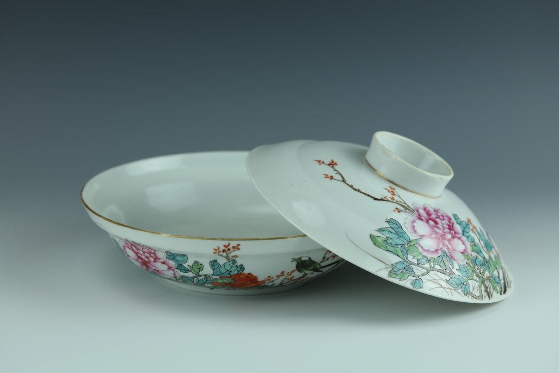 A Famille Rose Porcelain Pot With Cover - 5