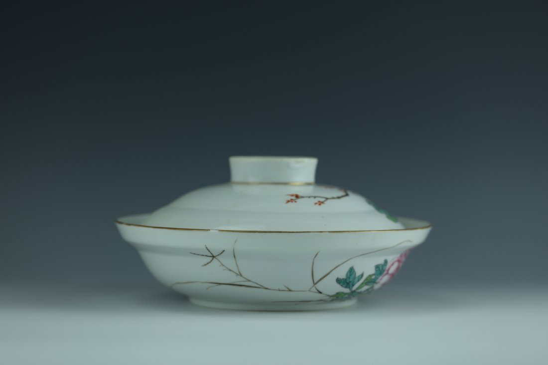 A Famille Rose Porcelain Pot With Cover - 6
