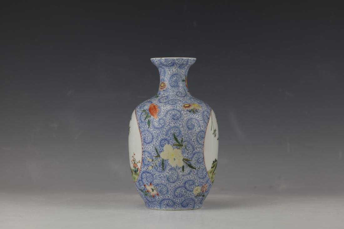 A Chinese Famille Rose Porcelain Vase With Qianlong - 3