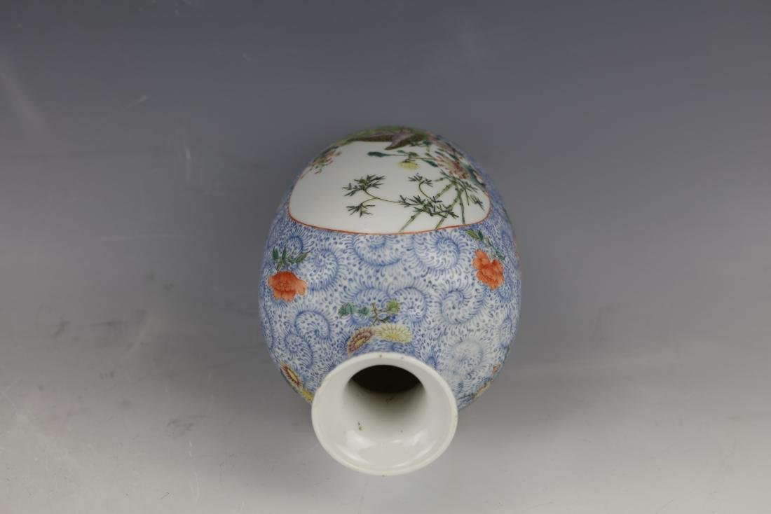 A Chinese Famille Rose Porcelain Vase With Qianlong - 9