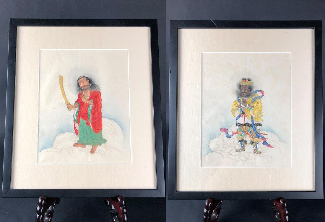 Two Unusual Painting of Luohan