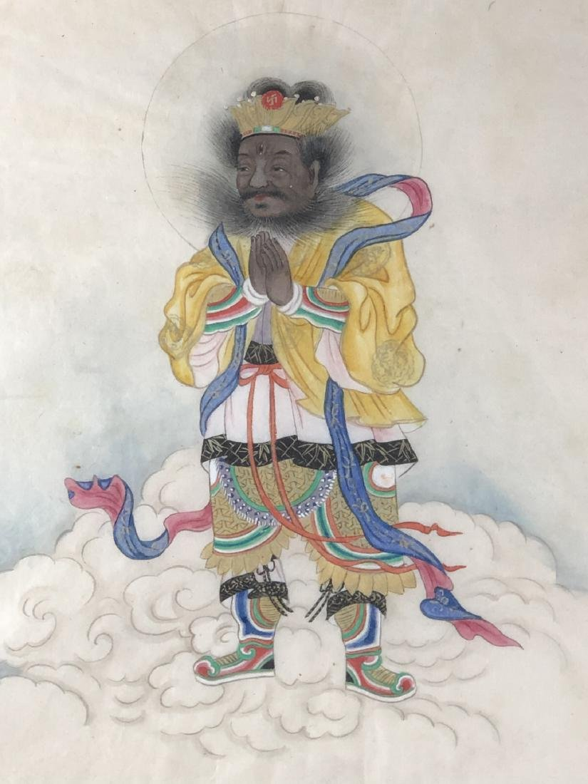 Two Unusual Painting of Luohan - 9
