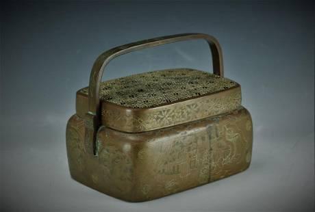 A Brass Hand Warmer Qing Dynasty Zhang Ming Qi