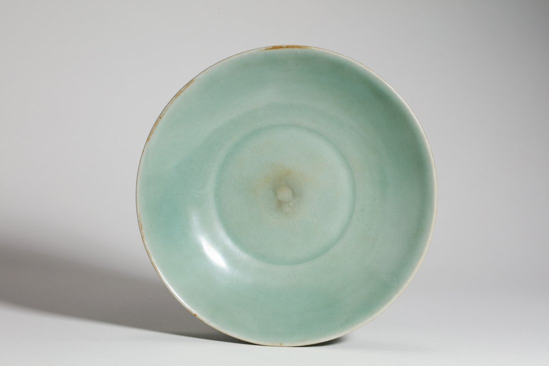 Longquan Kiln Celadon Floral Plater of Song Dynasty