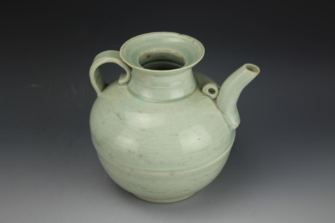 A Celadon-Glazed Water Pot - 3