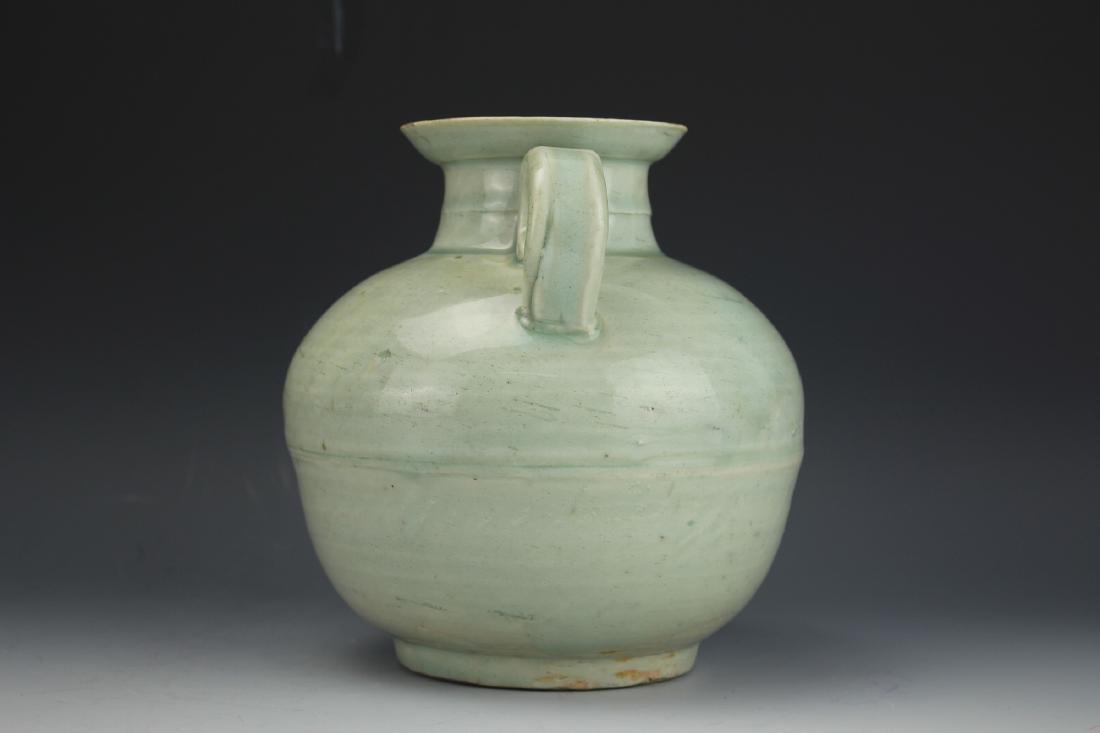 A Celadon-Glazed Water Pot - 4