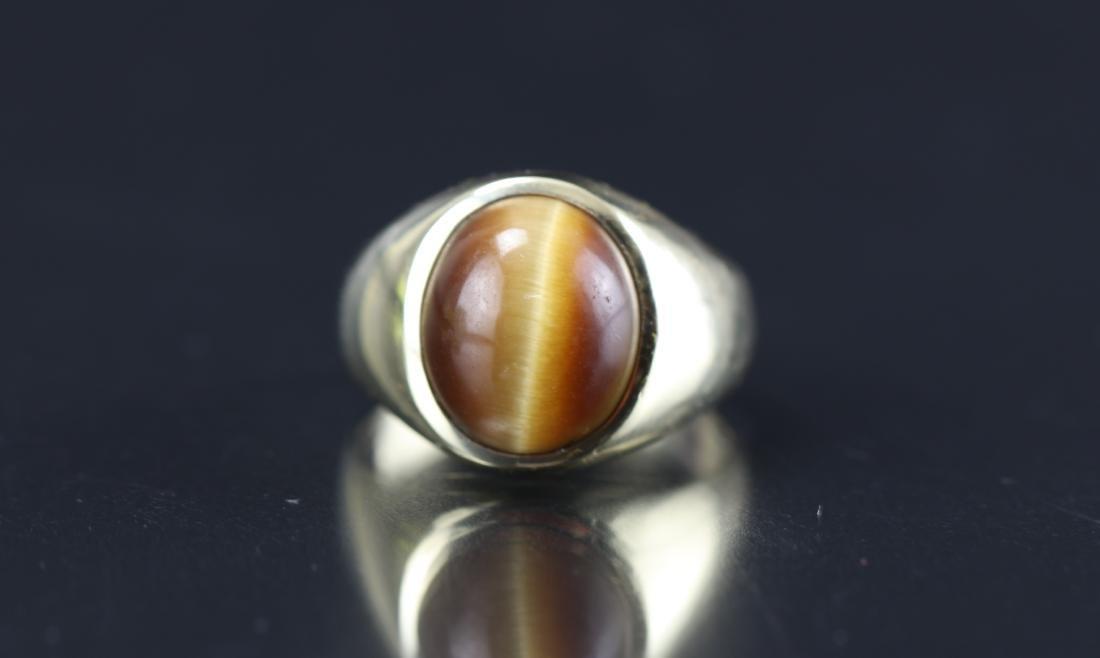 10K Gold Opal Men's Ring