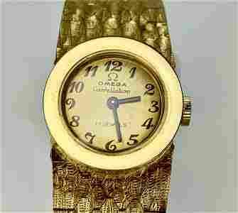 OMEGA 18K Gold Chain Watch