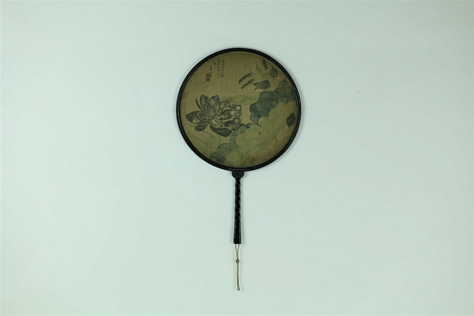 A Lotus Round Shaped Fan by Zhang Yinglin