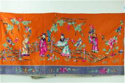 A Chinese Silk Embroidery of Immortals