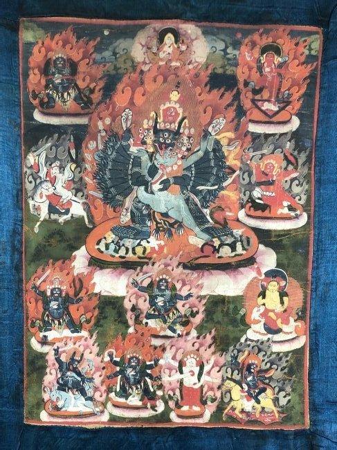 19th Century Tibetan Vajrabhairava Thangka