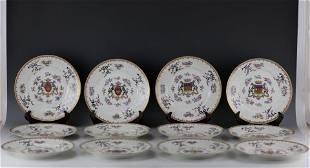 Twelve Chinese Export Samson Famille Rose Porcelain