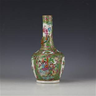 A Chinese Famille Rose Floral and Figural Porcelain