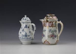 Two Porcelain Teapot with Cover