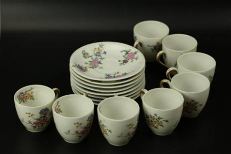 16 Pieces Limoges Cups and Saucers