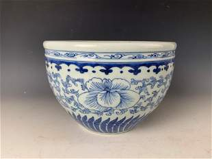 A Chinese Blue White Porcelain Pot