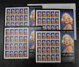 4 Sheets of Marilyn Monroe Legends of Hollywood 32c