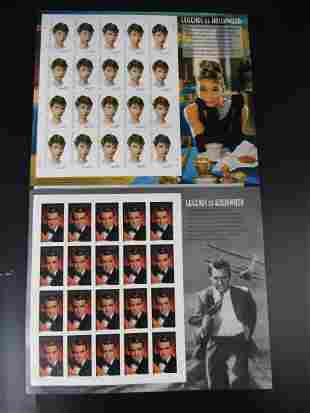 Legends of Hollywood USA Stamps of Audrey Hepburn 37c