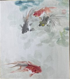 A Chinese Painting  Ink and Color on Paper by Wang