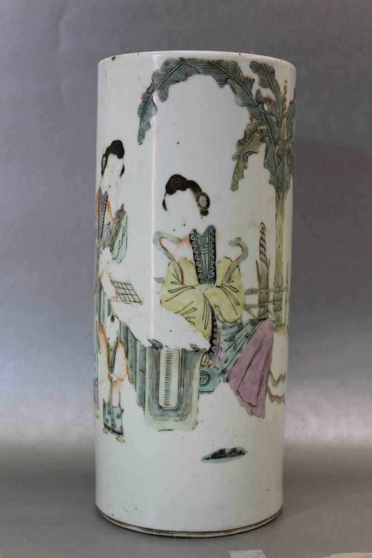 A Chinese Late Qing Porcelain Hat Stand