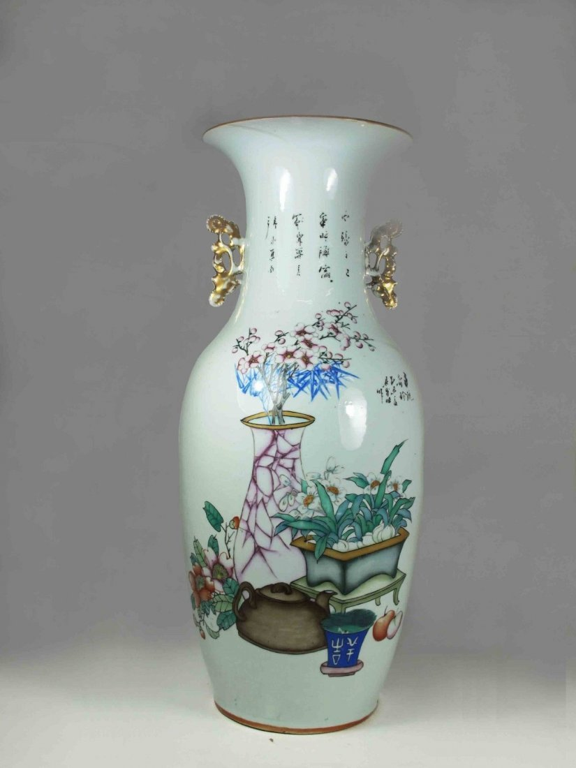 A Chinese Early  20th Century Porcelain Flower Vase