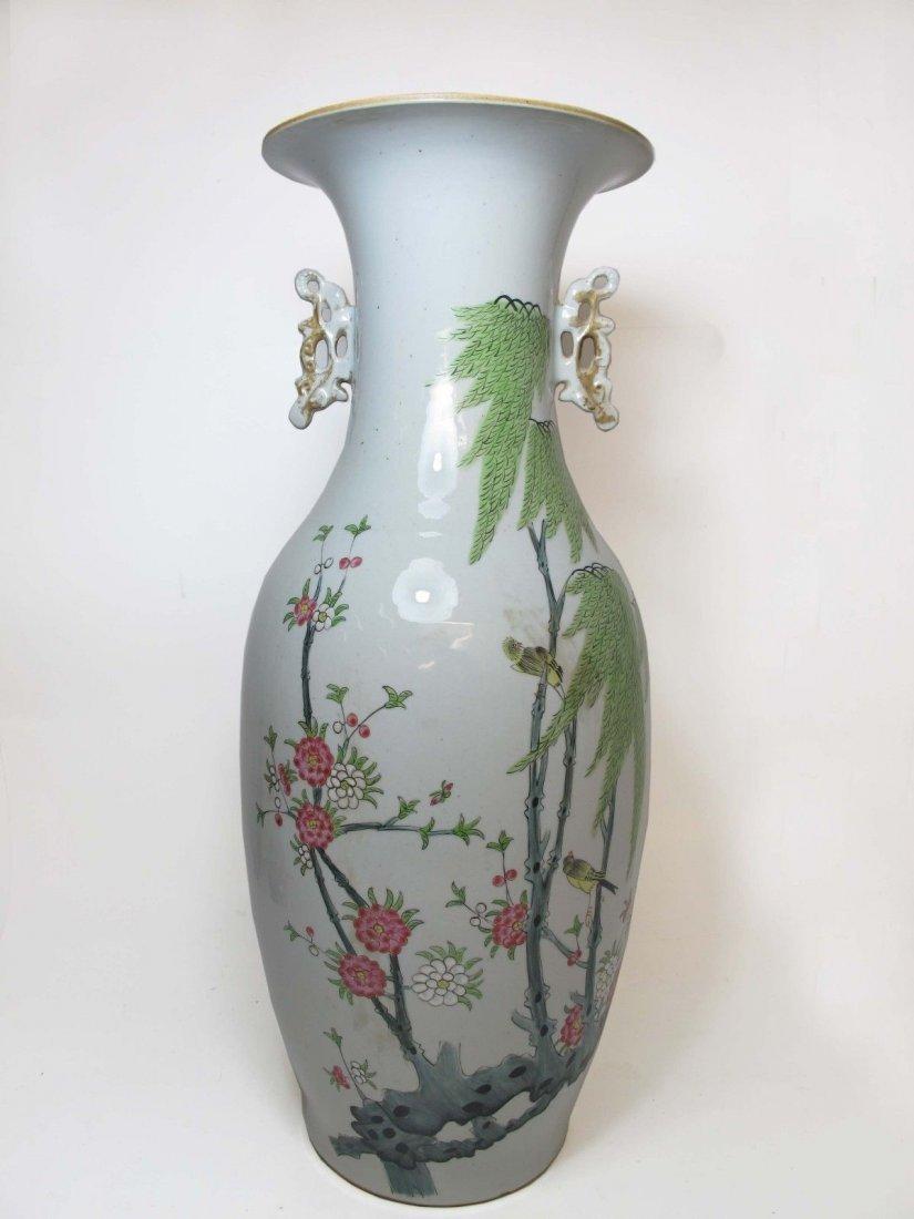 A Chinese Porcelain Vase Flower Pattern