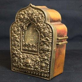A Tibet Antique Sliver Buddha Box