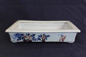 Chinese Qian Long Dynasty Underglaze Blue&red Porcelain