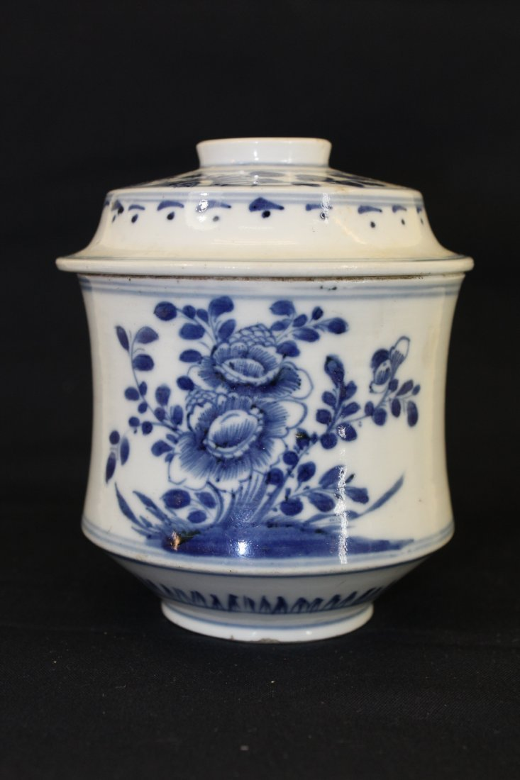 A Chinese Qing Dynasty Blue&White Tea Cup With Cover