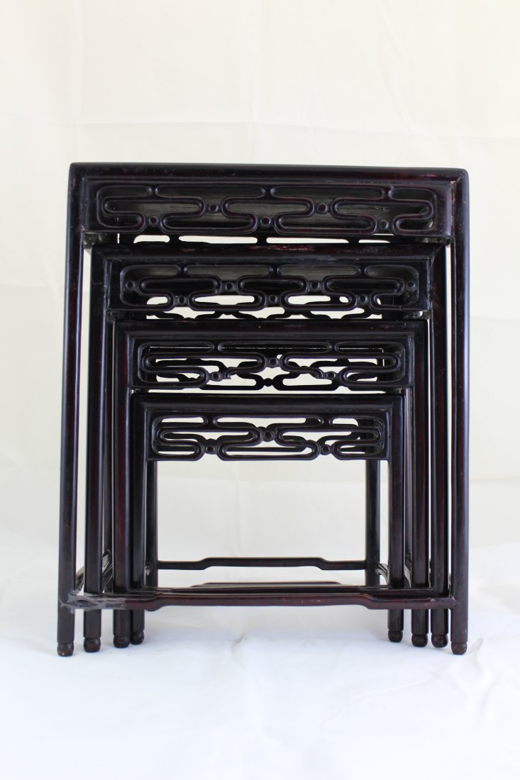 Four Set Of Chinese Wooden Table