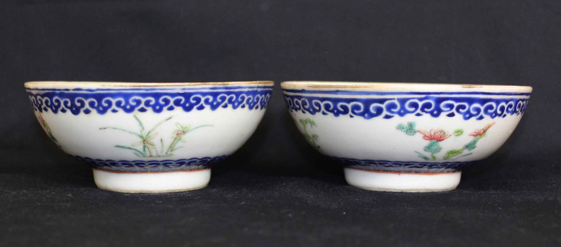 Two Chinese Porcelain Bowel Qing Dynasty