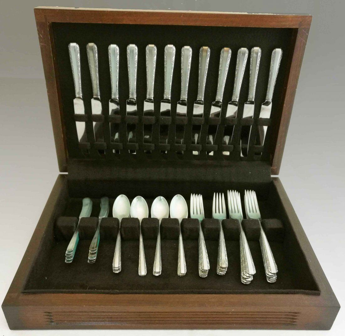 """Towle Sterling Silver Flatware """"Candlelight"""" 60 pcs eee"""