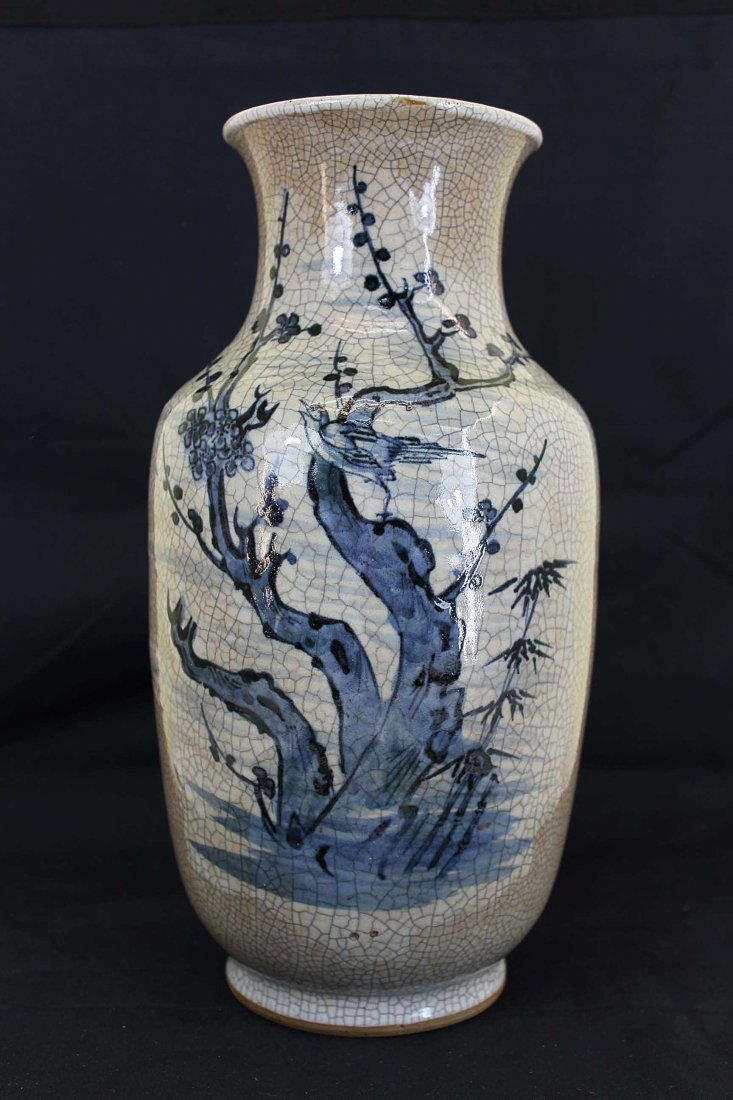 A Chinese Early Qing Dynasty White&Blue Porcelain Vase