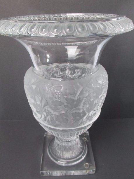 """Lalique Crystal """"Versailles"""" Vase"""