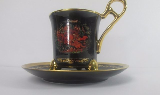"Bradford Editions ""Russian & Ludmilla"" Porcelain Tea"