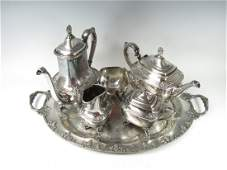 6 Piece 1847 Rogers Bros Silverplate Daffodil