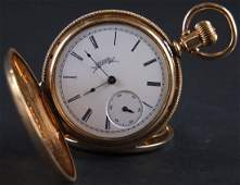 14K Gold Filled Elgin Full Hunters Pocket Watch In