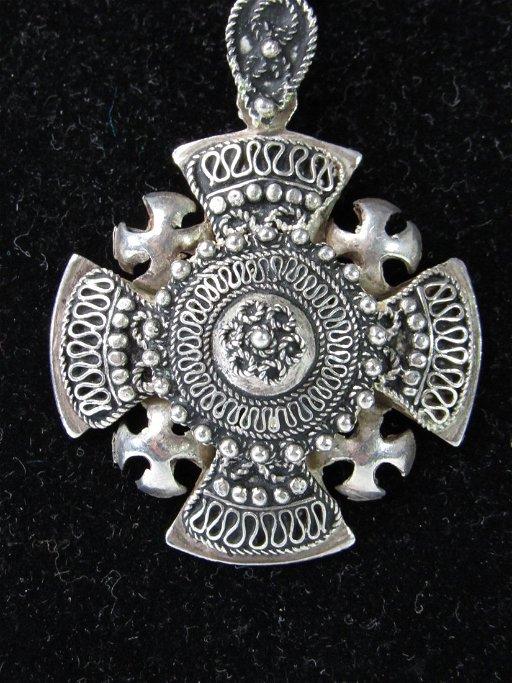 Vintage Silver Crusaders Cross - Jerusalem Pendant - Jul 20