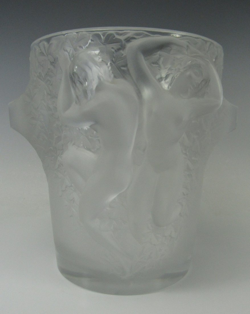 Lalique France Crystal Ganymede Champagne Bucket