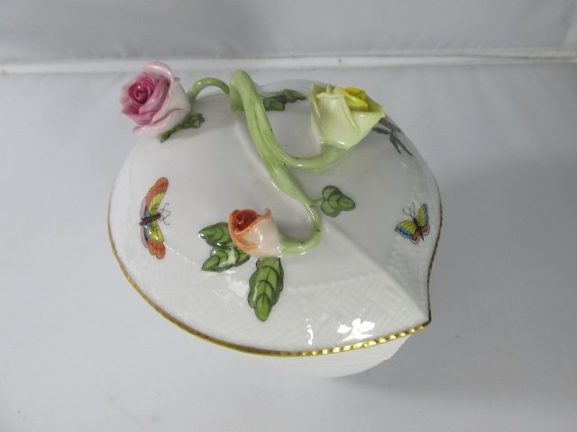 Herend Hvngry Porcelain Trinket / Jewelry box with