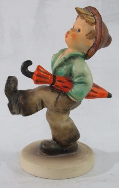 "Vintage Goebel Hummel ""Happy Traveler ""with umbrella"