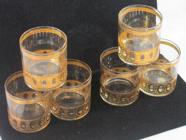 Lot of 6 Vintage Culver Ltd. Barware Lowball rocks