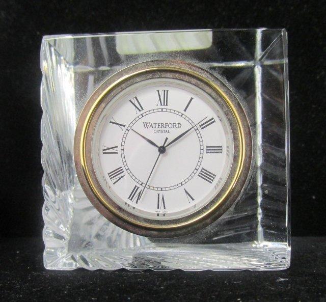 "Waterford Crystal Meridian Clock Cube Design 2 1/2""in"
