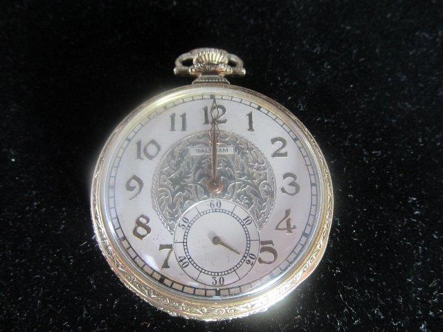 1885 Waltham Pocket Watch Gold Plated/ Star Watch Case