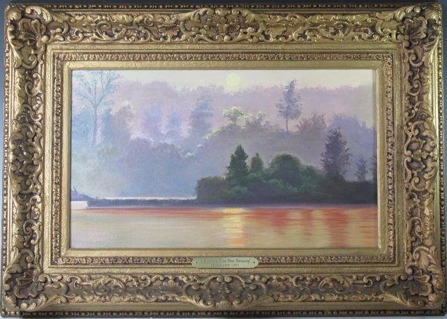 """George Gore 1973 Oil on Canvass Painting of """"A summer's"""