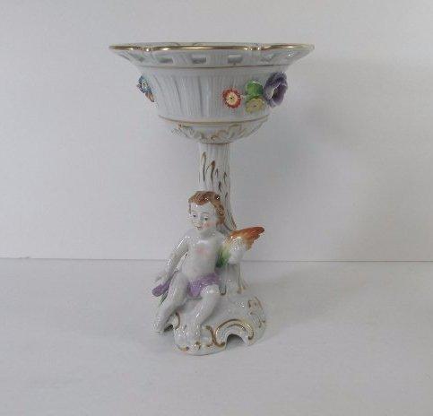 Antique Von Shierholz  Dresden Porcelain Flower Hand